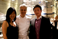 with Chef Eric Ripert in the kitchen of Le Bernardin